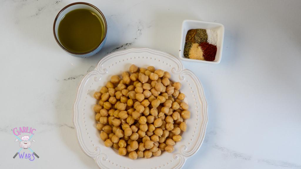ingredients for air fryer chickpeas