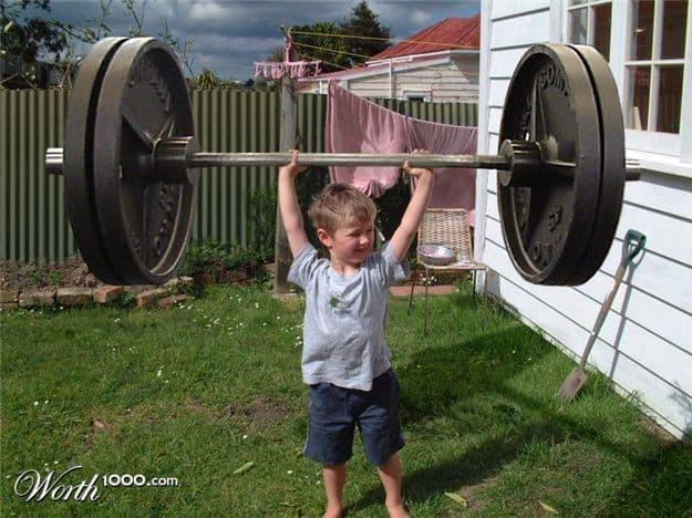 strong boy overhead press