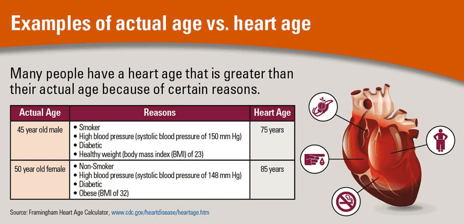 Real age and heart age