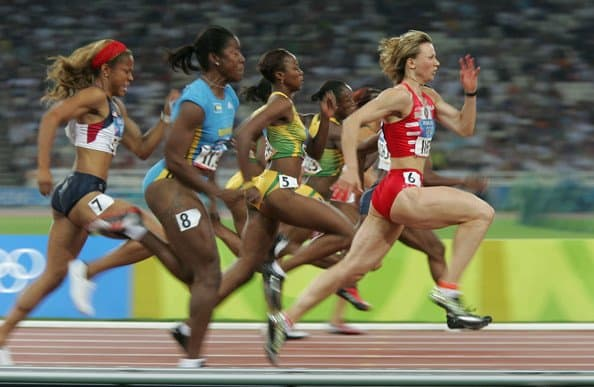 women sprinters