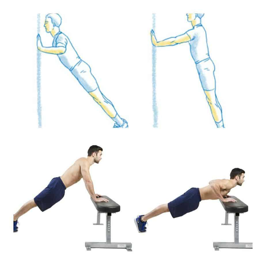 Wall and Incline Push-ups