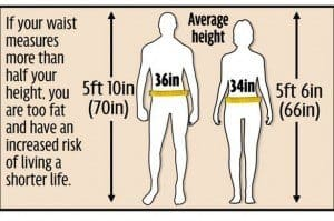 waist to height ratio predicts health and more