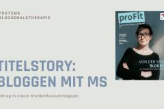 Bloggen mit MS: Gina auf Titelseite BKK VBU