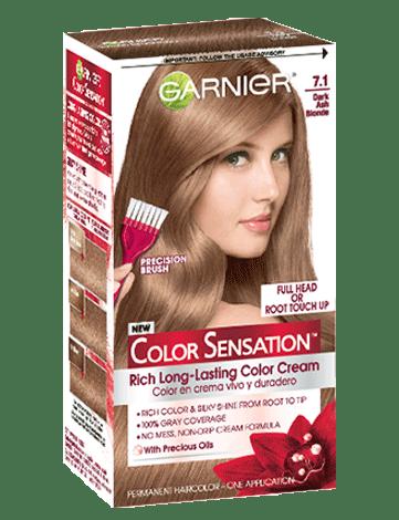 Color Sensation 71 Dark Ash Blonde Hair Color Garnier