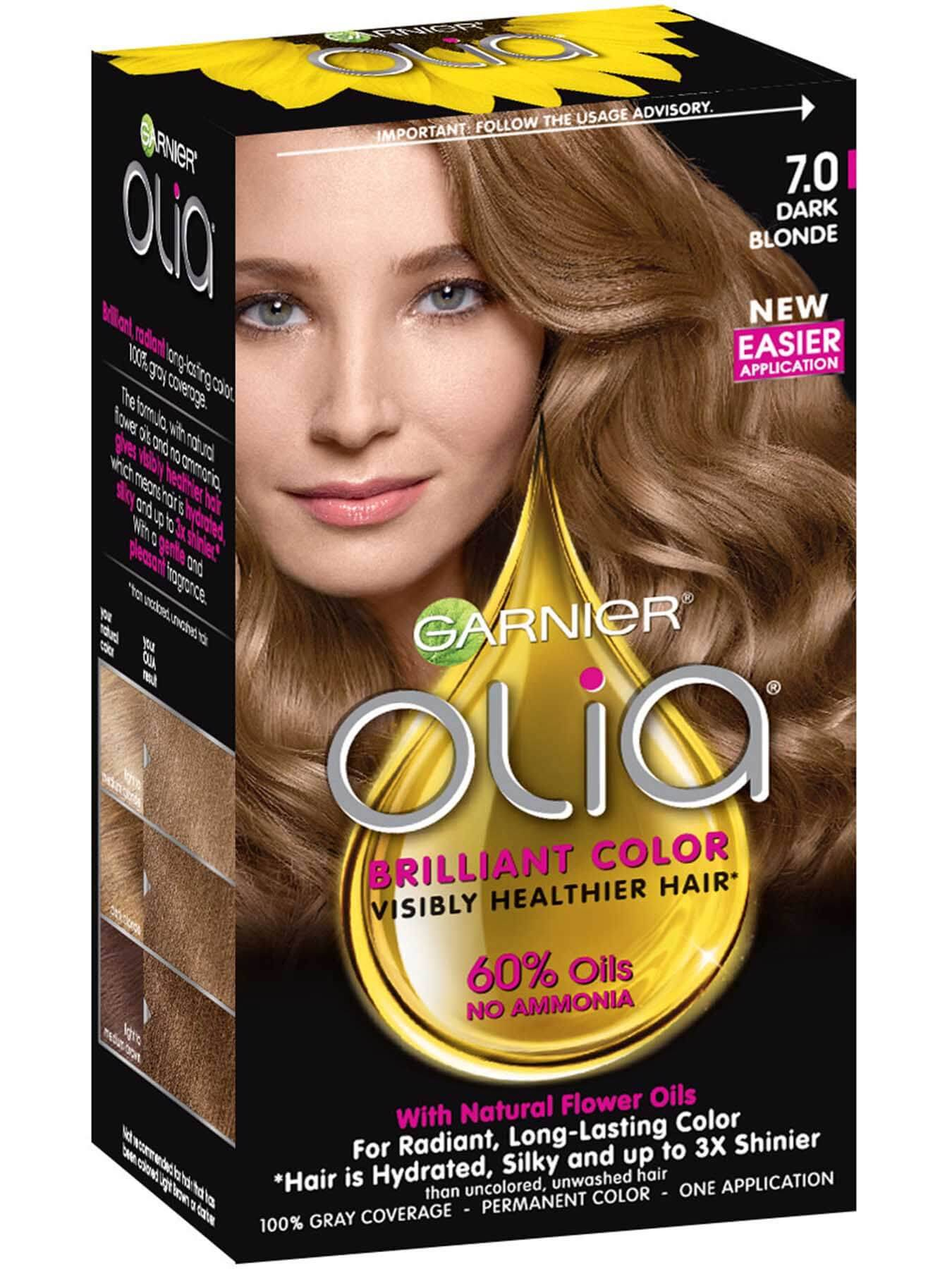 Olia Ammonia Free Permanent Hair Color Dark Blonde