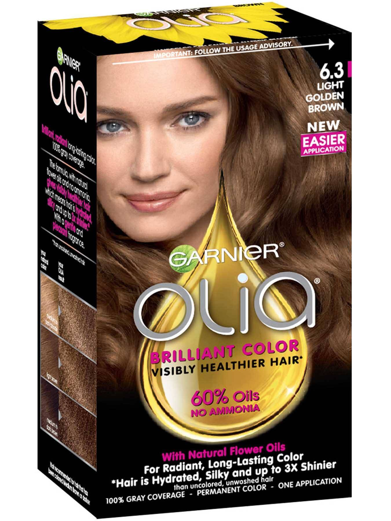 Olia Ammonia Free Permanent Hair Color Light Golden