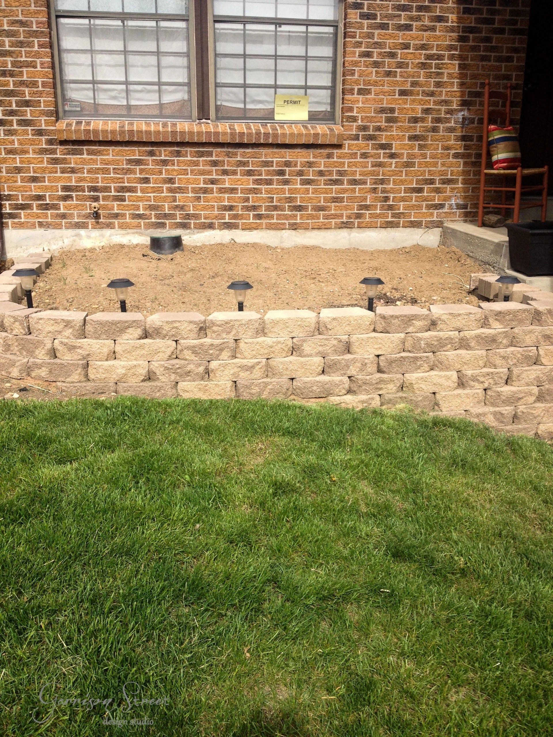 Building a Retaining Wall | Garrison Street Design Studio