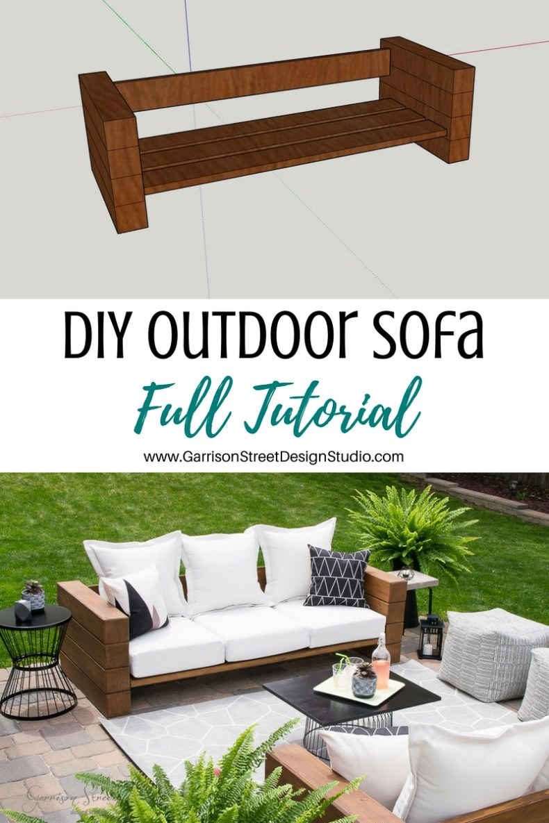DIY Outdoor Sofa Full Tutorial | Garrison Street Design Studio