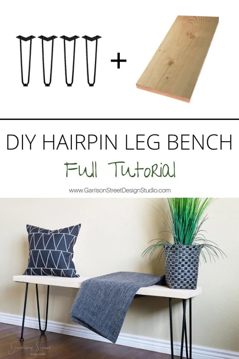 Terrific Diy Hairpin Leg Bench Garrison Street Design Studio Camellatalisay Diy Chair Ideas Camellatalisaycom
