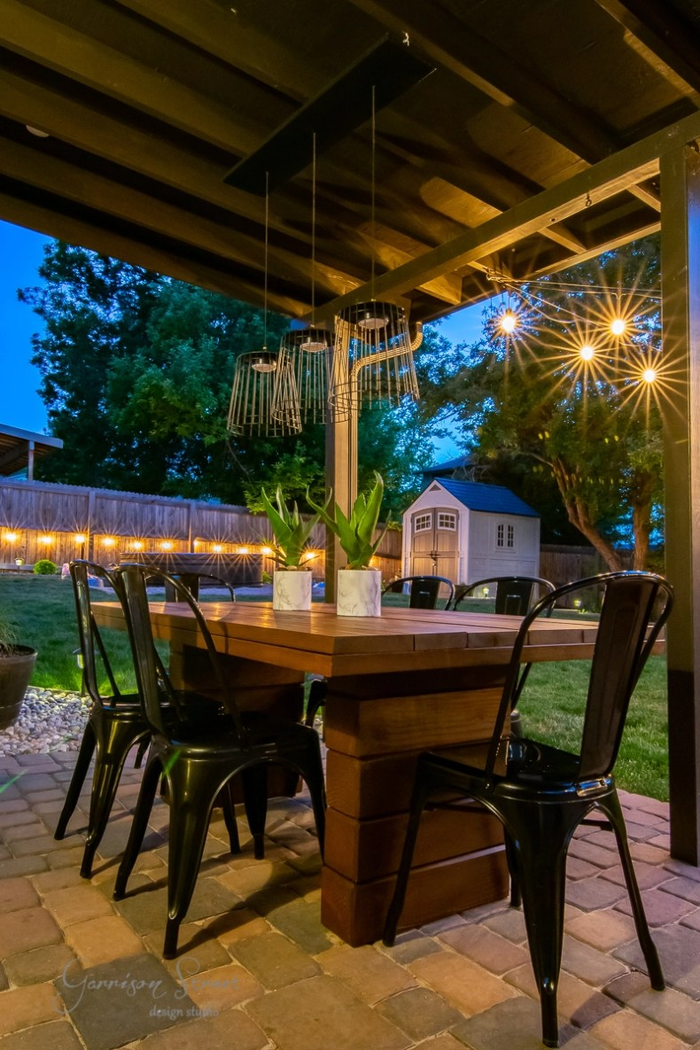 diy outdoor dining table full tutorial  garrison street