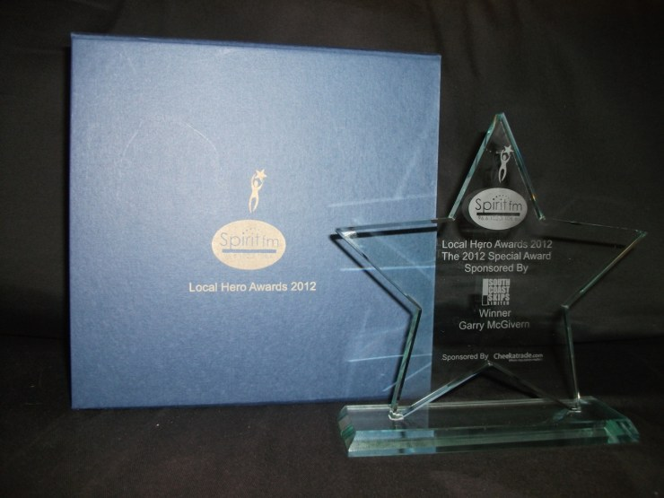 Spirit FM Local Hero award