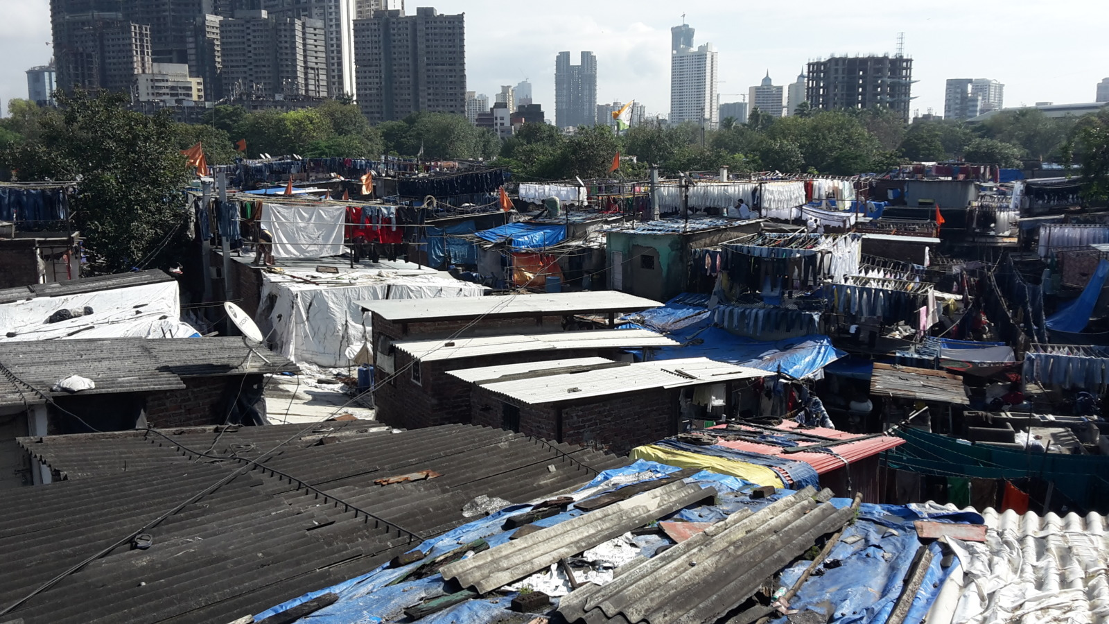The Dhobi Ghat in Mumbai.