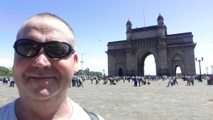 Garry McGivern at the Gateway of India Mumbai