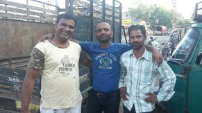 Making friends with the locals in Dhule
