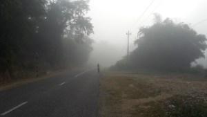 A misty start leaving Lamahi.