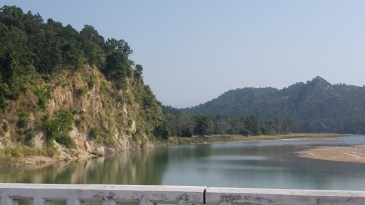 Bardia river in the Bardia national park