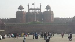 The Red Fort viewed from Netaji Subhash way Delhi