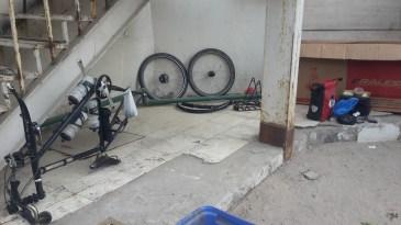 Packing the bike away