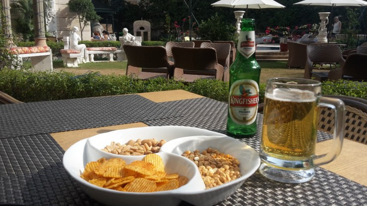 Afternoon snacks at the Royal Plaza hotel in Dheli