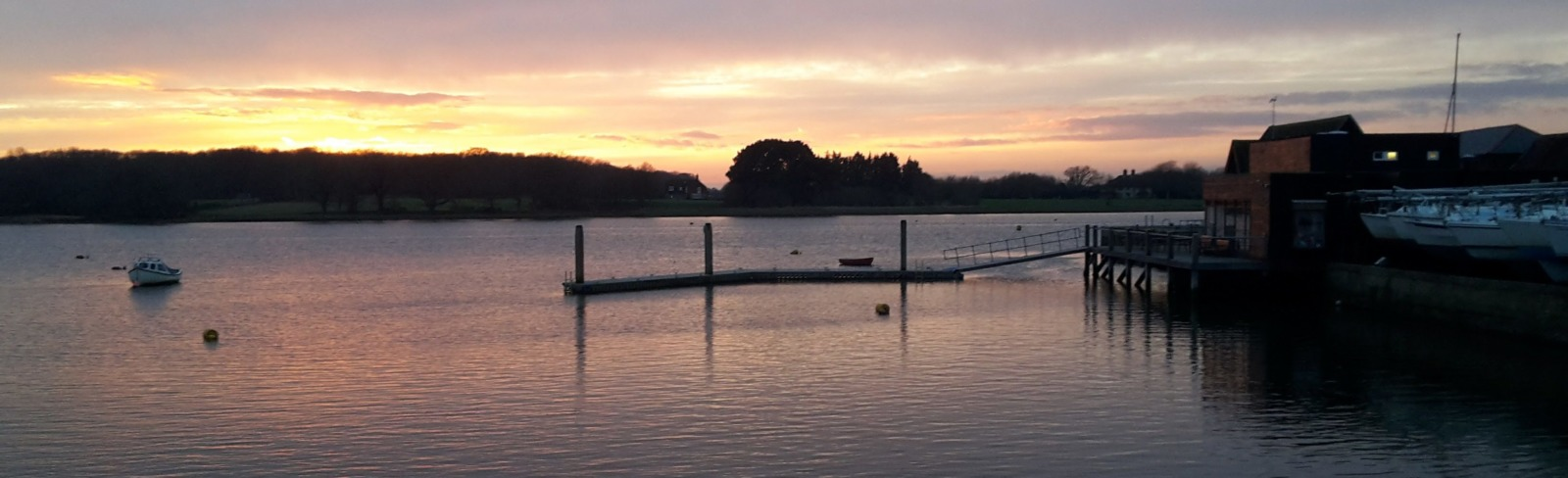 Sunset at Dell Quay
