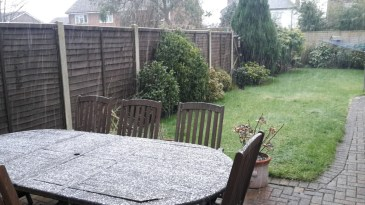 We even had snow, all 2 minutes of it!