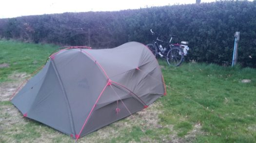 Campsite on the Isle of Wight with my new MSR Hubba Tour 2