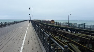 Ryde pier with the train that runs along it