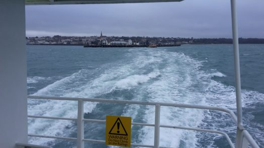 Looking back towards Ryde from the catamaran