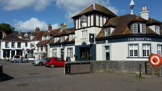 Ship Inn on the quayside in Lymington