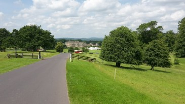 Longleat house viewed from the hill