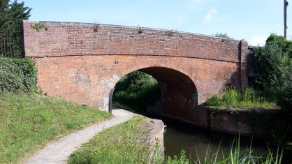 Bridge along the Bridgwater and Taunton canal