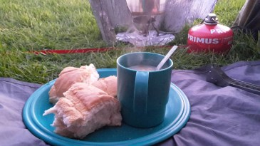 Hot soup and bread