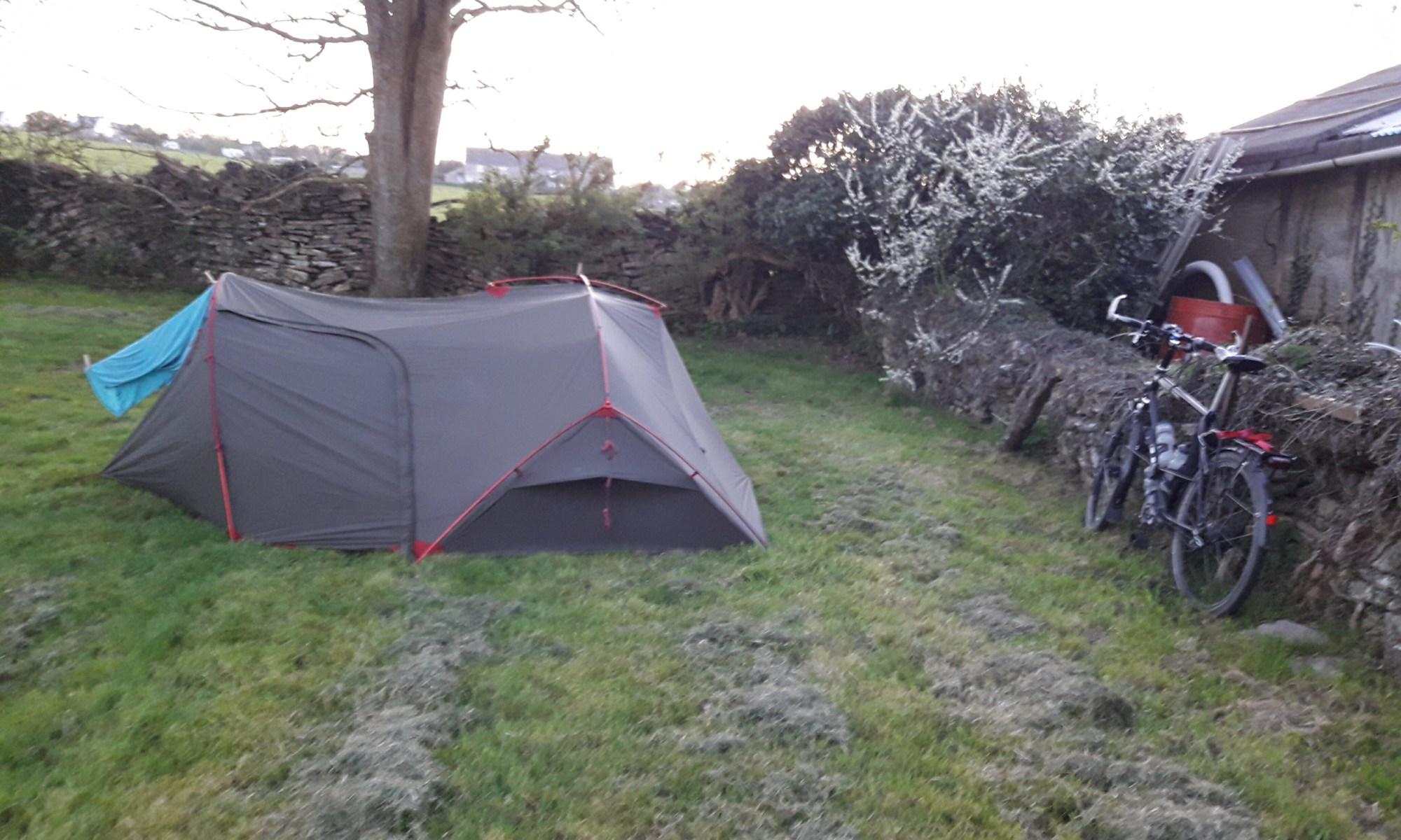 Tent in a field