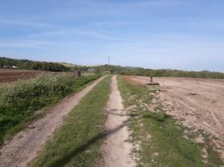 Track across a field