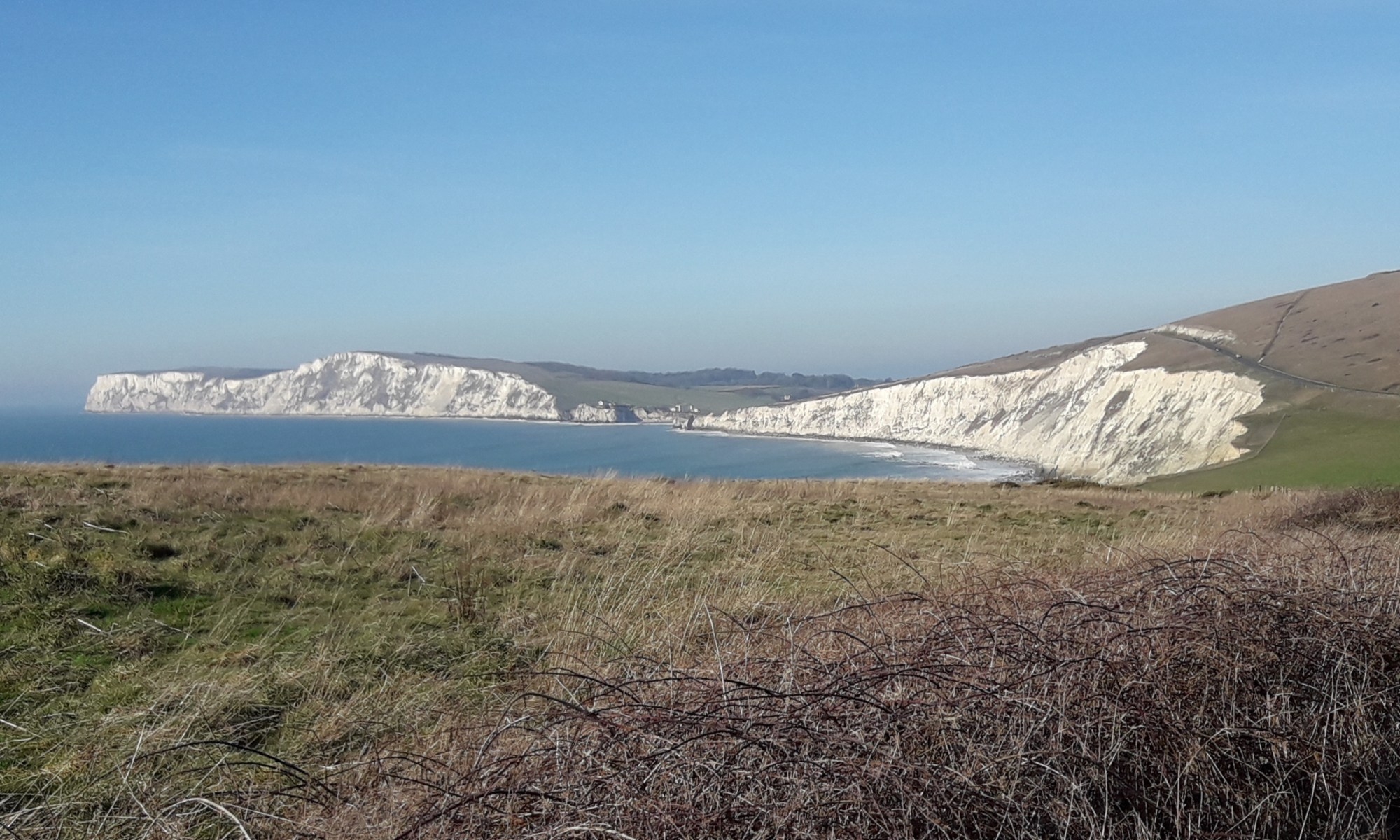 White cliffs and sea
