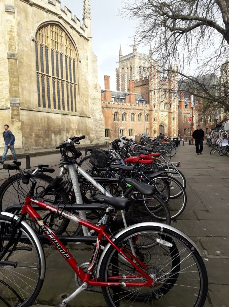 Bicycles in front of church
