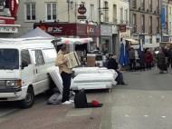 Man accordion street