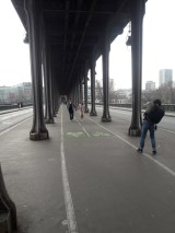 Cycle path and columns