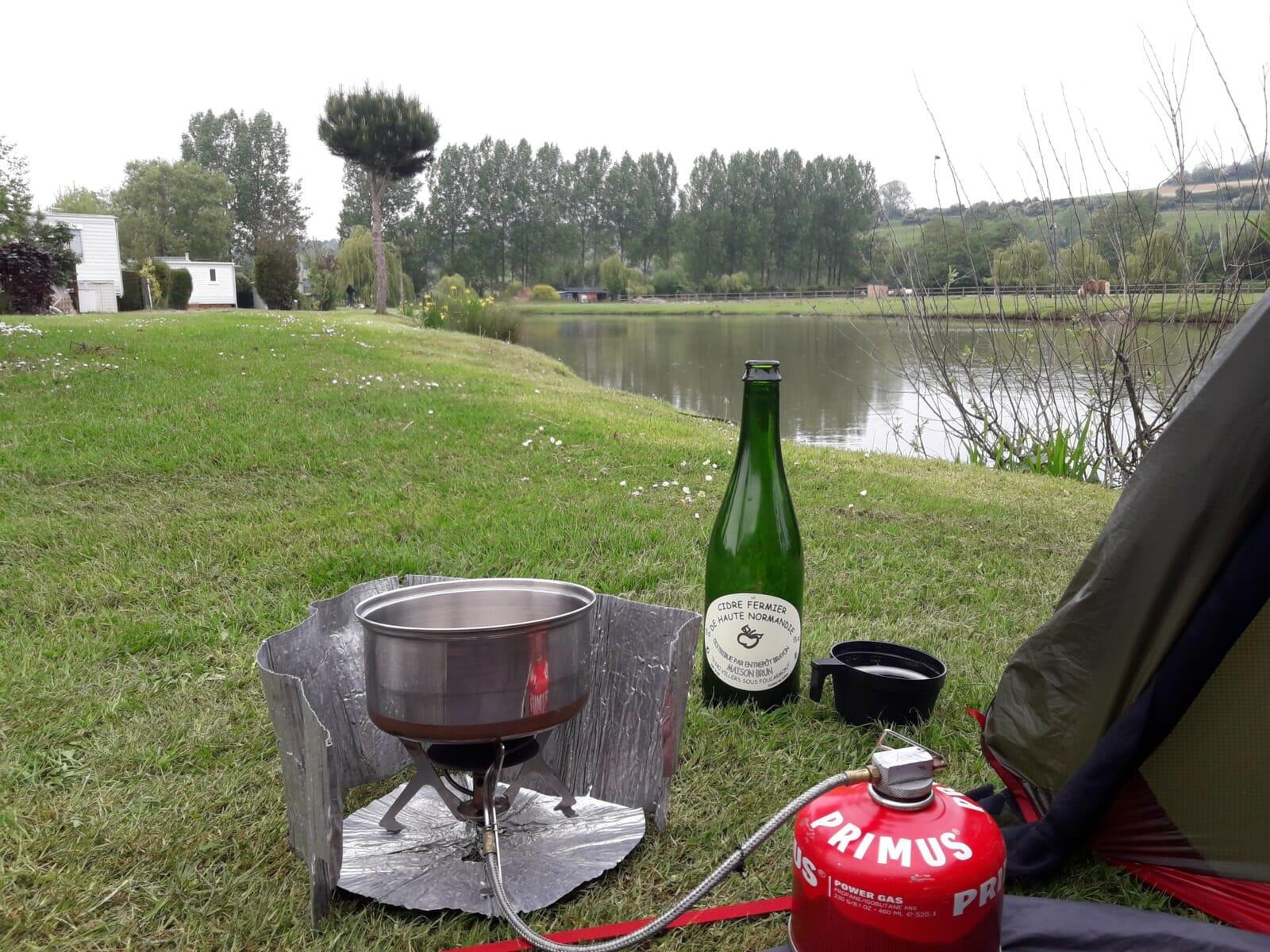 Stove lake bottle of cider
