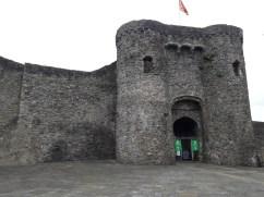 Carmarthen castle, not quite as I'd expected!