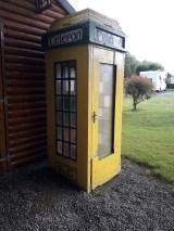 An old Irish phone box on site