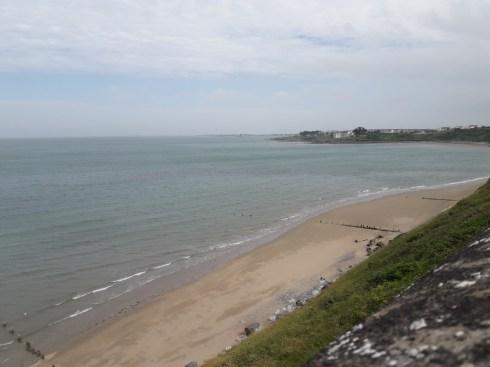 Back cycling along the coast