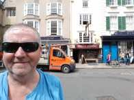 Garry outside the White Horse one of his favourite pubs in Oxford