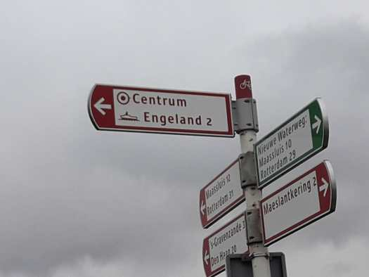 Cycle route signs