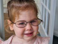Child in glasses