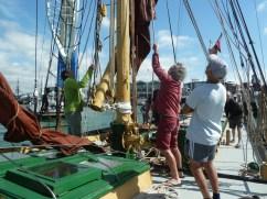 Crew on a ship