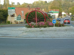 Penny farthing on a roundabout