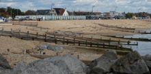 Beach huts along seafront
