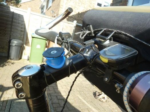 Bike stem handlebars speedo