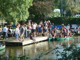 Good crowds at the canoe club day